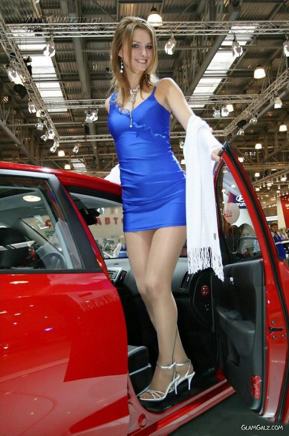 Awesome Russian Models At Car Show - Car show models photos
