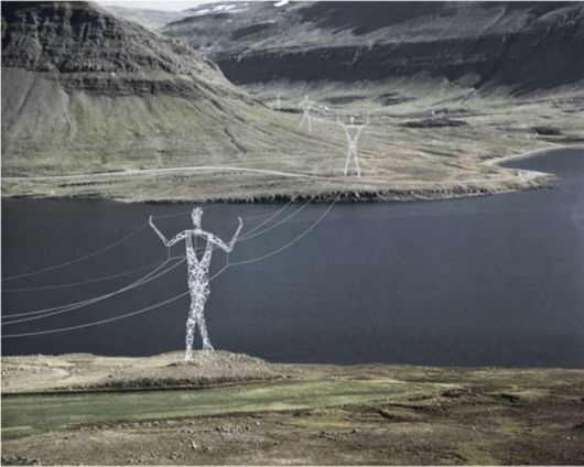 The Tall Electricity Statues In Iceland