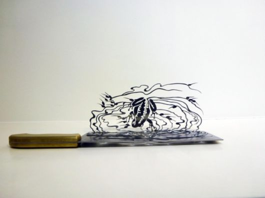 Awesome Silhouette Artwork Sculpted From Butchers Knives