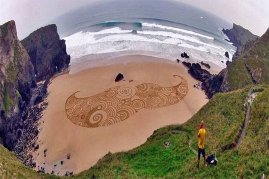 Transforming The Beach Into Swirling Canvases