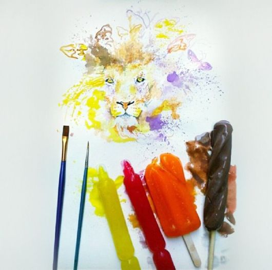 Artist Paints With Ice-Cream Instead Of Paint