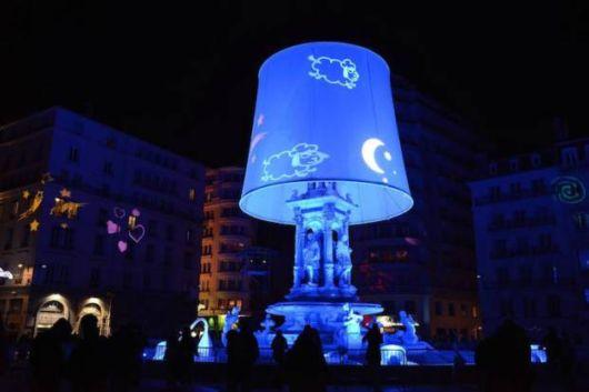 Festival Of Light Illuminate The Buildings Of Lyon