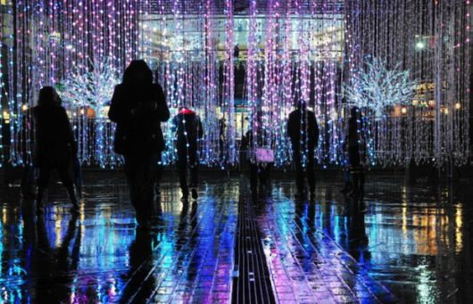 Spectacular Colour Changing Infinity Lights Brighten Up Manchester