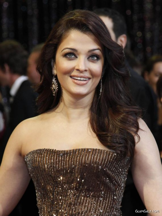Aishwarya Rai At The Oscars 2011 Red Carpet