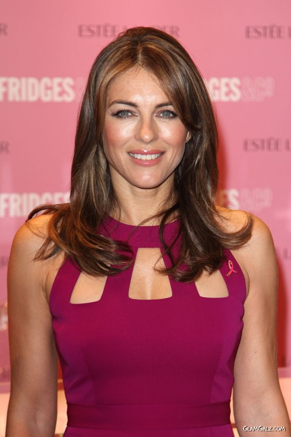 Gorgeous Elizabeth Hurley At An Awareness Campaign