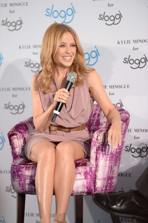 Kylie Minogue Promotes Sloggi In Berlin