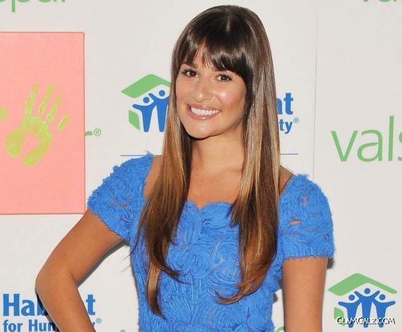 Lea Michele At The Valspar Hands