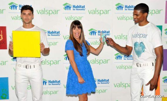 Lea Michele At The Valspar Hands
