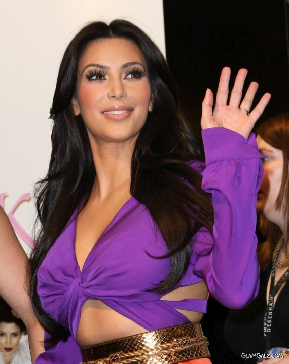 Miss Kardashian At A Promotional Campaign