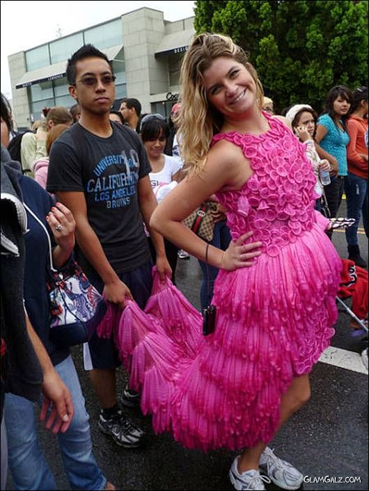 Amazing Condom Fashion Dress