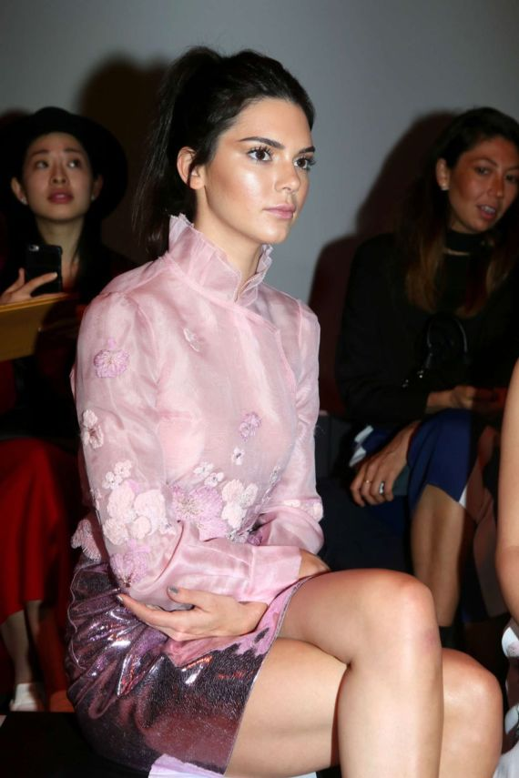 Kendall Jenner Attends Shiatzy Chen Fashion Show In Paris