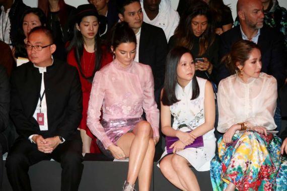 Kendall Jenner Attends Shiatzy Chen Fashion Show In Paris