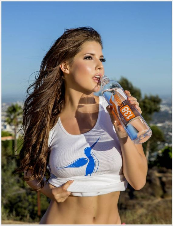 Amanda Cerny Cycling For 138 Water
