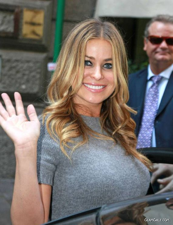 Gorgeous Carmen Electra Candids In Italy