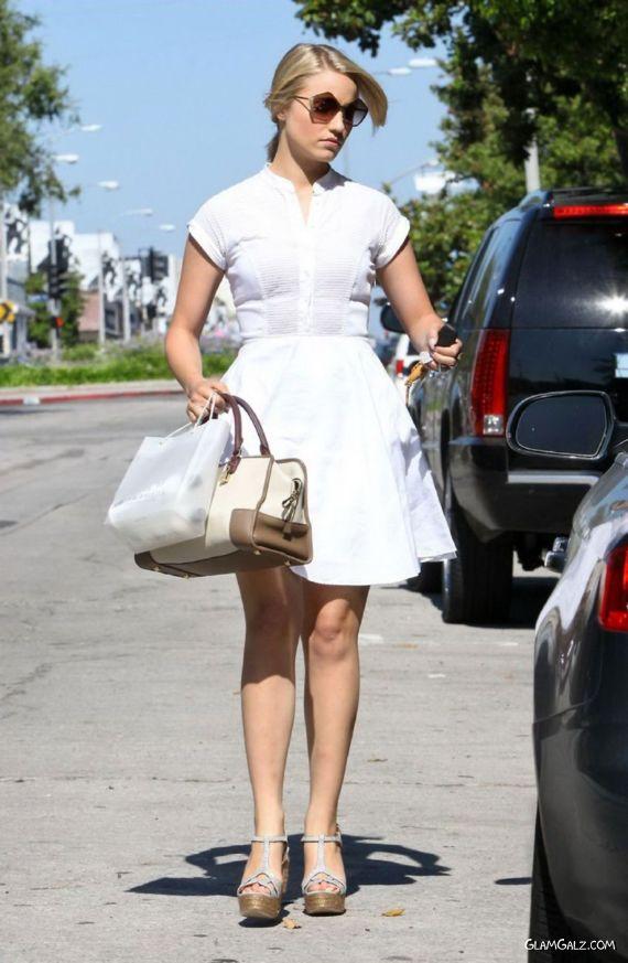 Dianna Agron Leaving A Salon