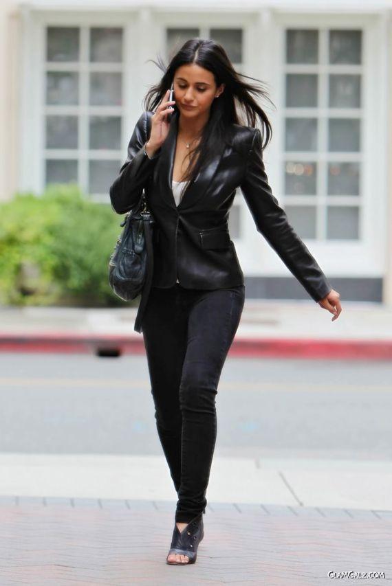 Emmanuelle Chriqui Walking on the Road