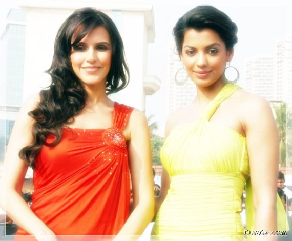 Mugdha Godse And Neha Dhupia for Mach3