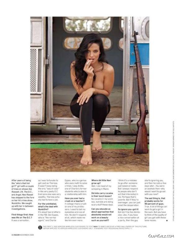 Navi Rawat Poses for Maxim