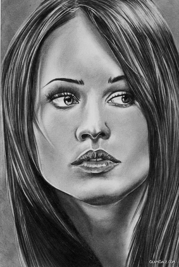 Megan Fox in Creative Sketches