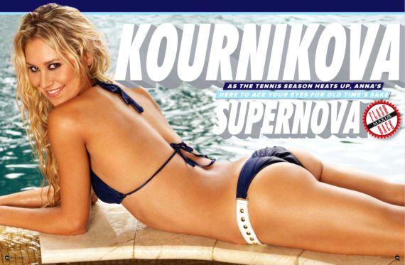 Anna Kournikova Posing for Maxim
