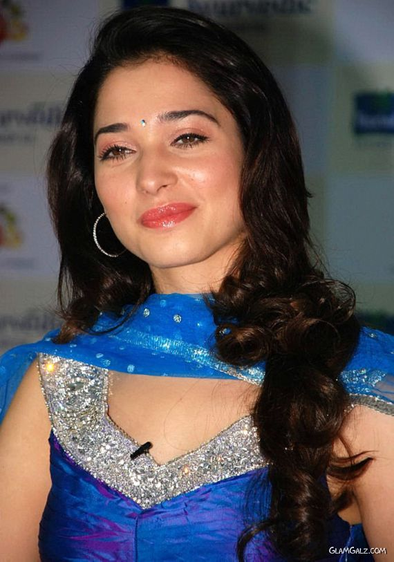 Beautiful Tamanna in Blue Dress