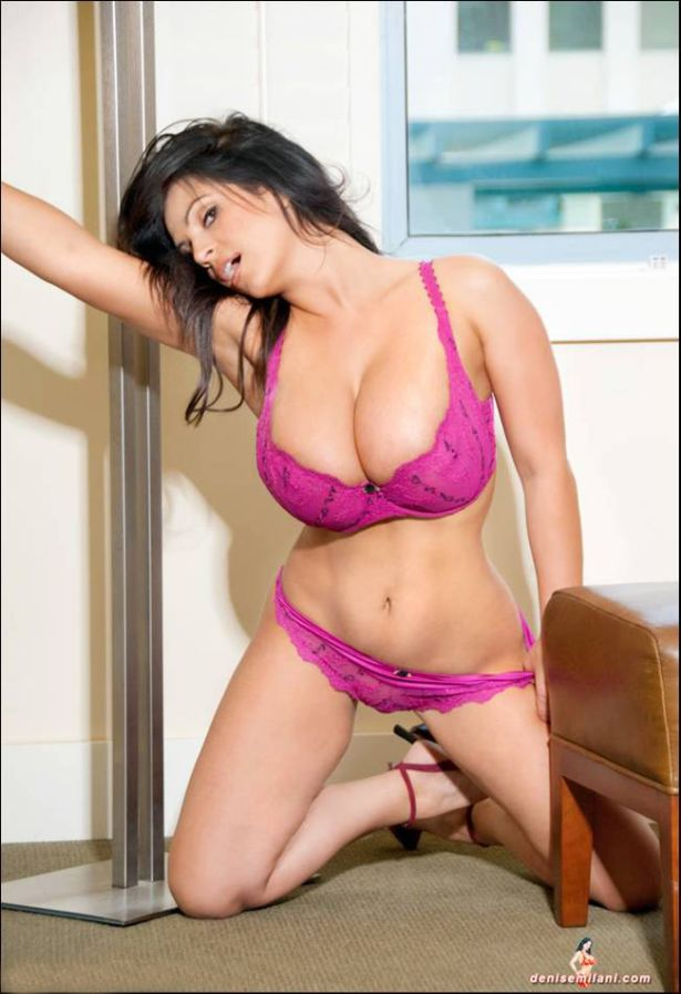 Lovely Denise Milani in Pink