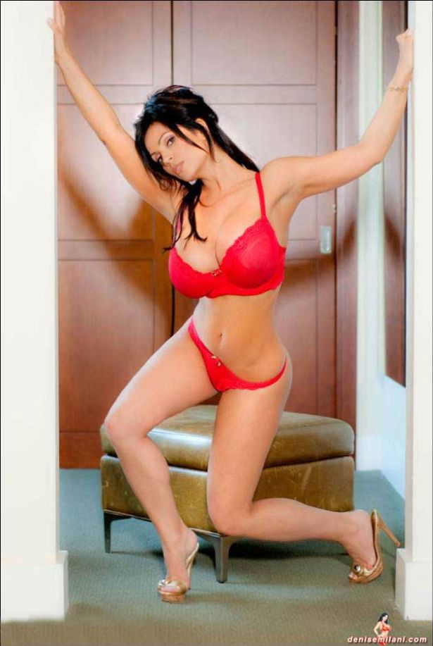 Denise Milani in Red Lingerie