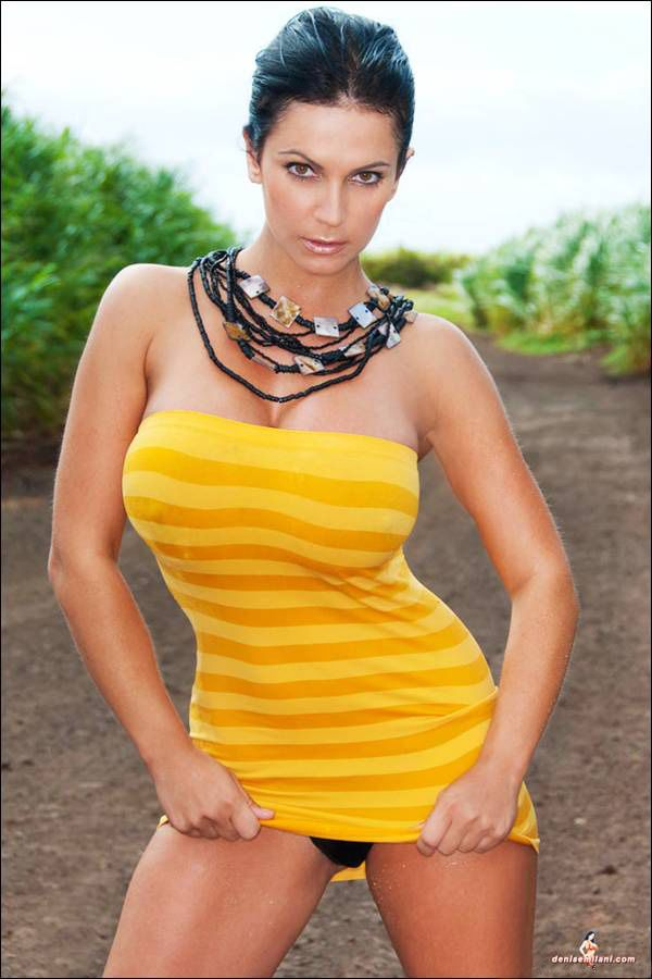 Yellow Fellow Denise Milani