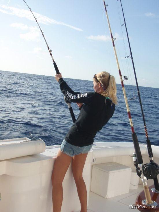 Galz Fishing in Bikinis