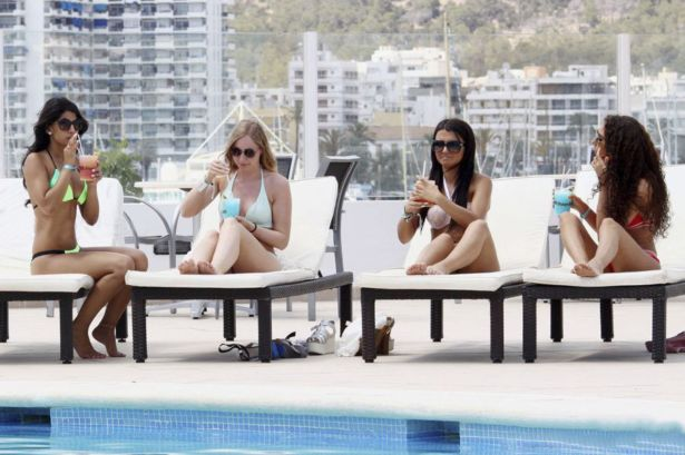 Jasmin Walia By The Pool In Ibiza