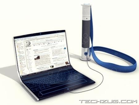 Concept Laptop with Flexible Display