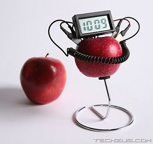Amazing Fruit Powered Clock